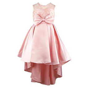 Vestido Formal Rosa Elegante Princesa Largo Bordado Boda