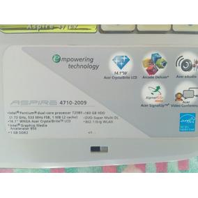 Laptop Acer Aspire, Modelo 4710-2009, Intel Pentium Dual