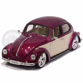 Miniatura Volkswagen Fusca Tunado Roxo Metálico Welly 1/24