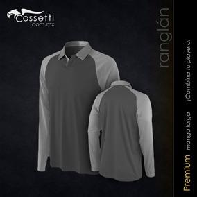 Camiseta Tipo Polo Manga Larga Tipo Ranglan Drifit Cossetti 3cc7437a21f8b