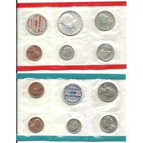 10 Moedas Estados Unidos - Lacradas No Blister - 1970 - Leia