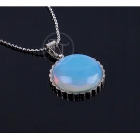 Collar Piedra Luna Natural Titanio 18k Sol
