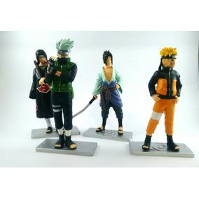 Kit Com 4 Bonecos, (naruto, Sasuke, Itachi Kakashi