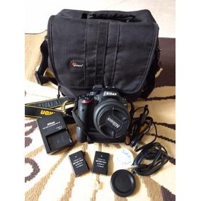 Camera Nikon D5100 Grip De Bateria + Filtro