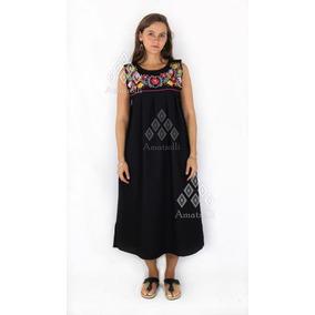 988995d33a Vestido Mexicano Moderno Bordado - Vestidos Largos de Mujer Blanco ...