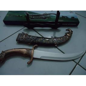 Espada Adaga Grande 58cm Cavalo Tróia Romana Faca Katana