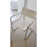 Cadeira Delta Em Couro Branca