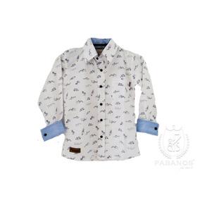 Camisa De Niño Estampada Peces