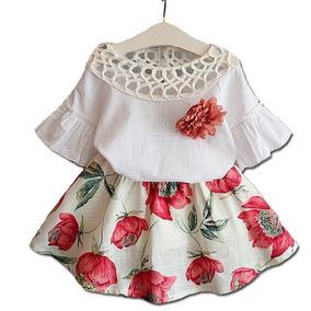 bcae7bccd5d Conjunto Florido Feminino Roupa - Conjuntos Infantis no Mercado ...