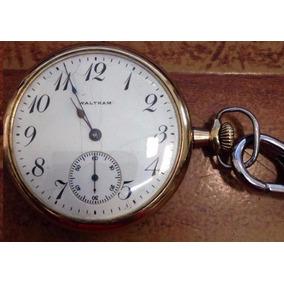 Reloj De Bolsillo Waltham Chapa Oro Coleccionable Porcelana
