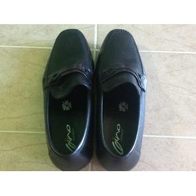 Remate Zapatos Casuales Gino Cherruti Negros Para Caballero