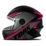 Capacete Feminino Rosa R8 Pro Tork