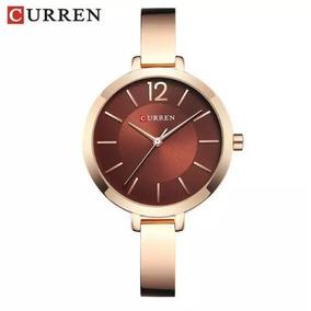 Relógio Feminino Curren 9012 Luxo Resistente A Água - Rose B