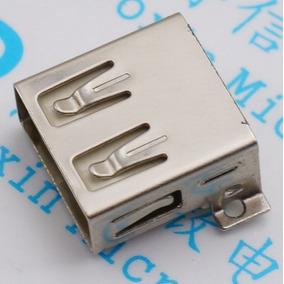 20x Conector Jack Usb 2.0 Tipo A Fêmea 4 Pinos Smd