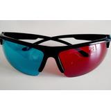 Óculos 3d Anáglifo De Plástico (vermelho E Ciano)