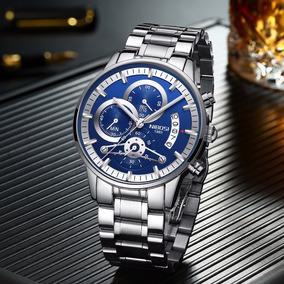 Relógio Masculino Nibosi 2309-1 Original 30 Metros Azul