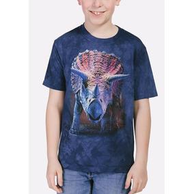 Playera 4d - Unisex Infantiles 15-3562 Charging Triceratops
