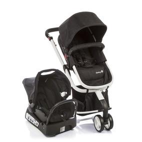 Carrinho De Bebê Travel System Mobi Safety 1st Black & Whi