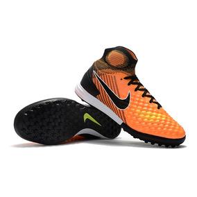 Botinha Nike Magista Laranja - Chuteiras no Mercado Livre Brasil 68f3d841b1804