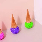 Ligas C/forma Cono Helado Colores Assorted Doiy