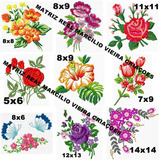 Matrizes De Bordados 58 Flores E Rosas Linda Lançamento 2019