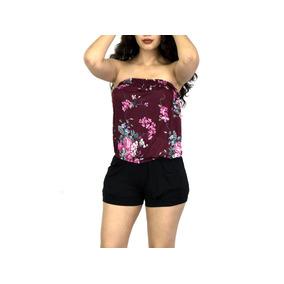 f61456bb082 Jumpsuit Short Mujer Jumpers Overol Estraple Dama Varios