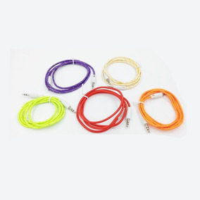 Cable Tela Auxiliar Mini Plug 3.5mm A Miniplug 1m Celular Pc