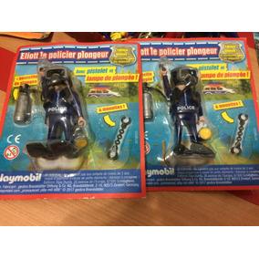 Playmobil Policial Ed. Limitada Mergulhador +arma E Algemas