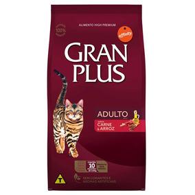 Ração Gran Plus Carne E Arroz Para Gatos Adultos 10kg