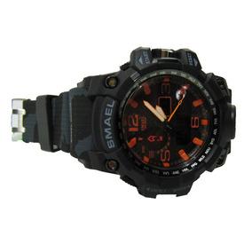Relógio Masculino Esportivo Smael Laranja Original