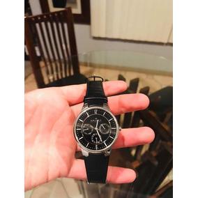 Reloj Suizo Skagen Con Correa De Piel Negra
