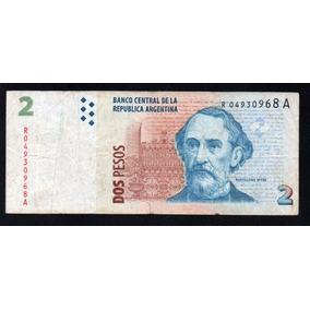 Billete 2 Pesos Convertibles 2º Dis. Reposición Bottero 3244