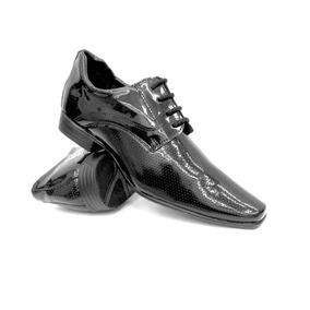 Sapato Social Masculino Bico Quadrado Casamento Formatura