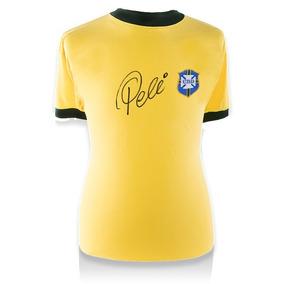Pelé Playera Firmada De Brasil Retro 1970