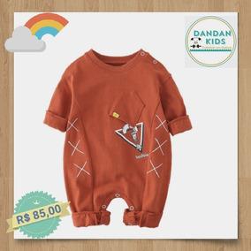Macacão De Bebe Infantil Menino Importado Algodão