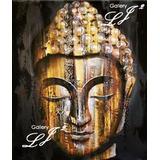 Cuadro Zen Moderno Óleo 100% Hecho A Mano Sala Spa Buda 1