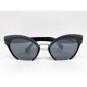 Oculos Gatinho Preto De Sol Miu - Óculos no Mercado Livre Brasil 7c40ec0b65