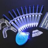 Kits Clareamento Dental Whitenes Gel 44% Clareador C/10 +luz