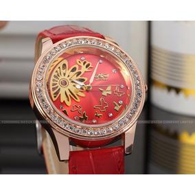 Relógio Feminino Winner Skeleton Red Hight Quality