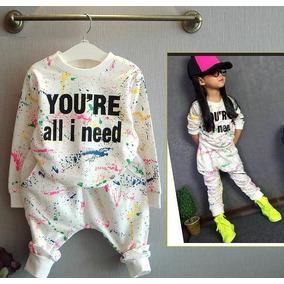 Roupas Infantil Menina Conjunto Moletom Infantil Blogueira