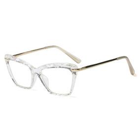 Óculos Armação De Grau Gatinho Lapidado Feminino + Brinde 59af067673