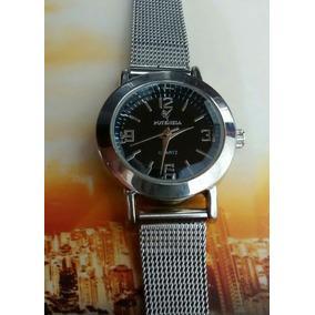 Relógio Feminino Prateado Delicado Lindo E Elegante