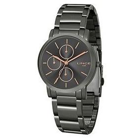 b9bb5d34358 Relógio Fem Trançado Grafite E Classico Lince - Relógios De Pulso no ...