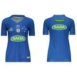 Camisa Original Do Cruzeiro Vôlei Feminina Umbro Mais Brinde