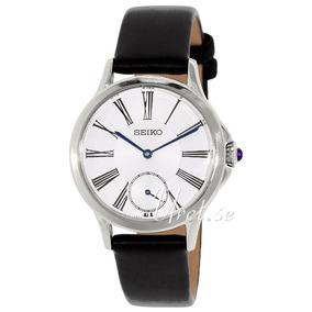 Reloj Dama Seiko Mother Of Pearl Piel Srkz57s Negro Msi
