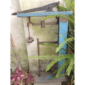 Antiguo Frente De Balanza Para Decoracion Bronce Y Madera