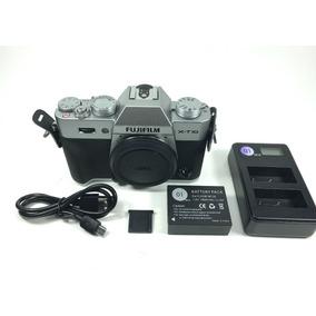 Câmera Fujifilm Xt10 X-t10 Corpo Prata Em Estado De Nova!