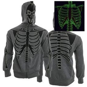 Chamarra Esqueleto Brilla En La Oscuridad Talla S Ch Huesos
