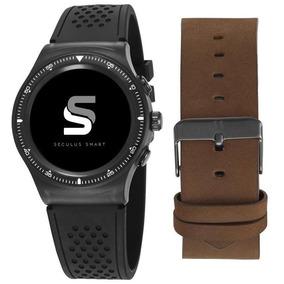 a7d4fa9d2a8 Relógio Seculus Smartwatch Pulseira Silicone couro 79000gpsv