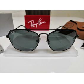 52b454b29d Óculos Sol Ray Ban Caravan Titanium 8136 Preto 9128 31 Japan. R  420